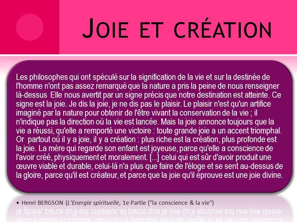 Joie et création