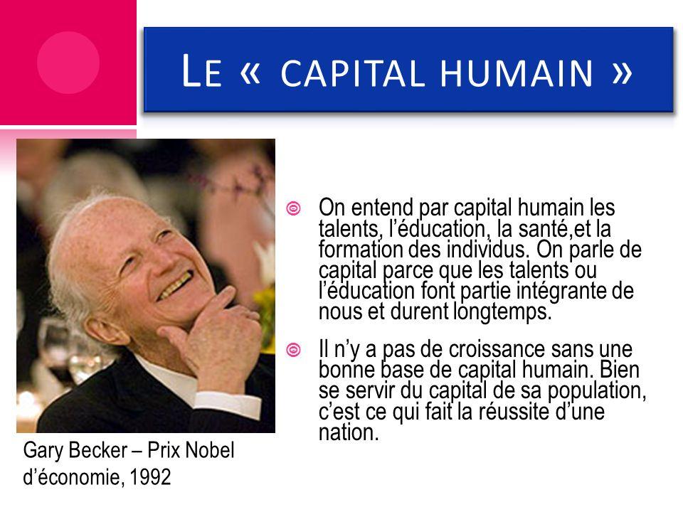 Le « capital humain »