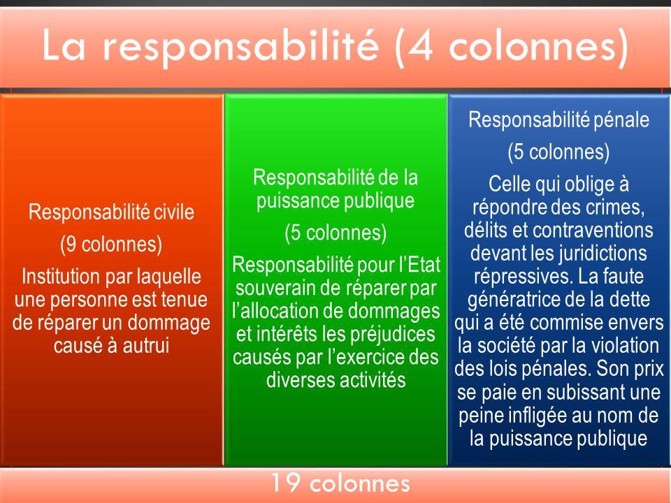 19 colonnes Responsabilité pénale