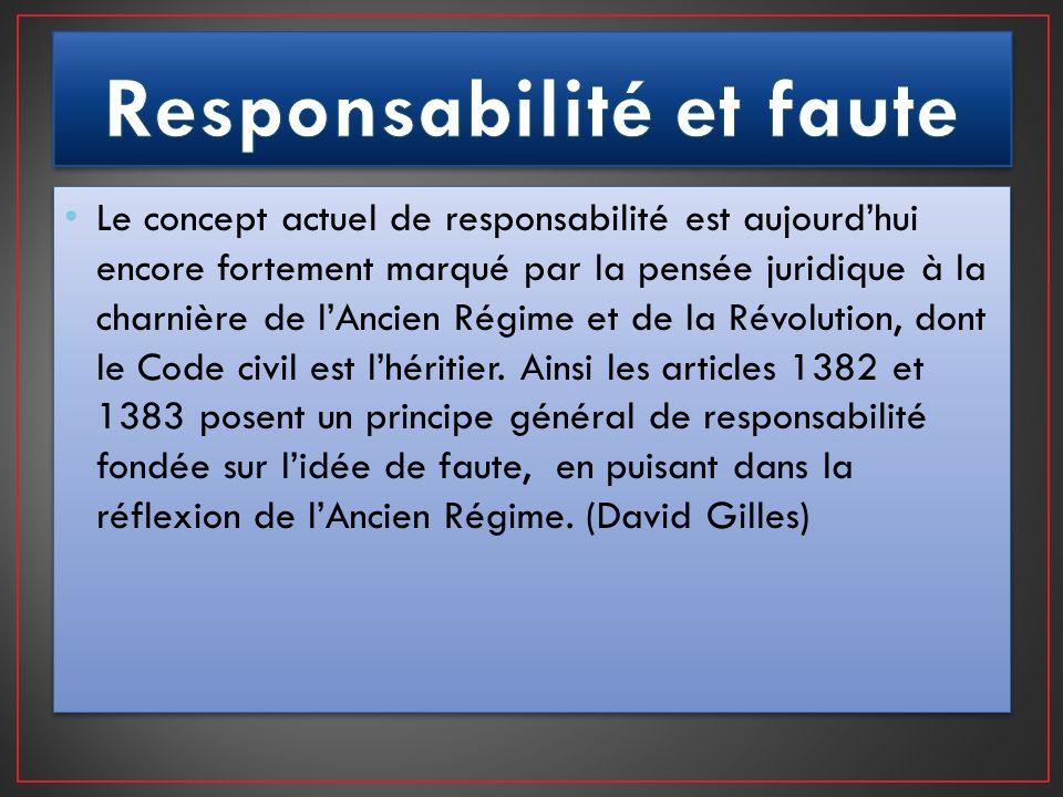 Responsabilité et faute