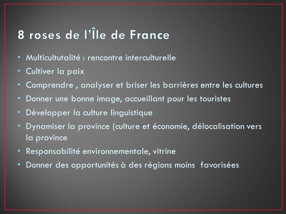 8 roses de l'Île de France