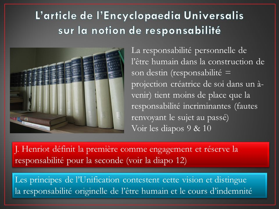 L'article de l'Encyclopaedia Universalis