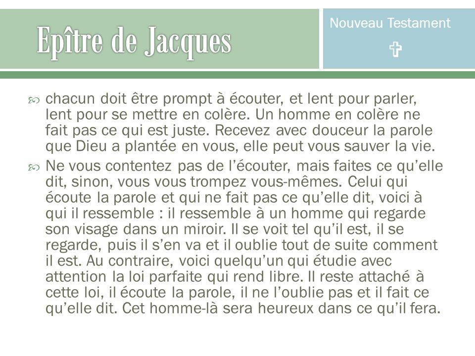 Nouveau Testament  Epître de Jacques.