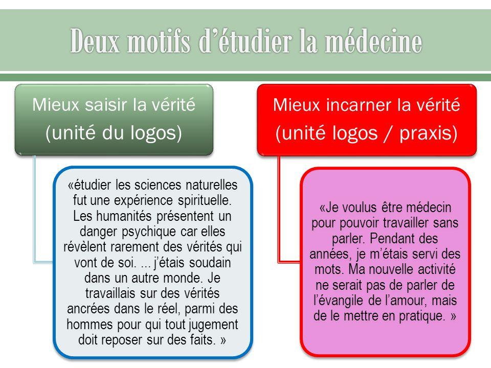 Deux motifs d'étudier la médecine