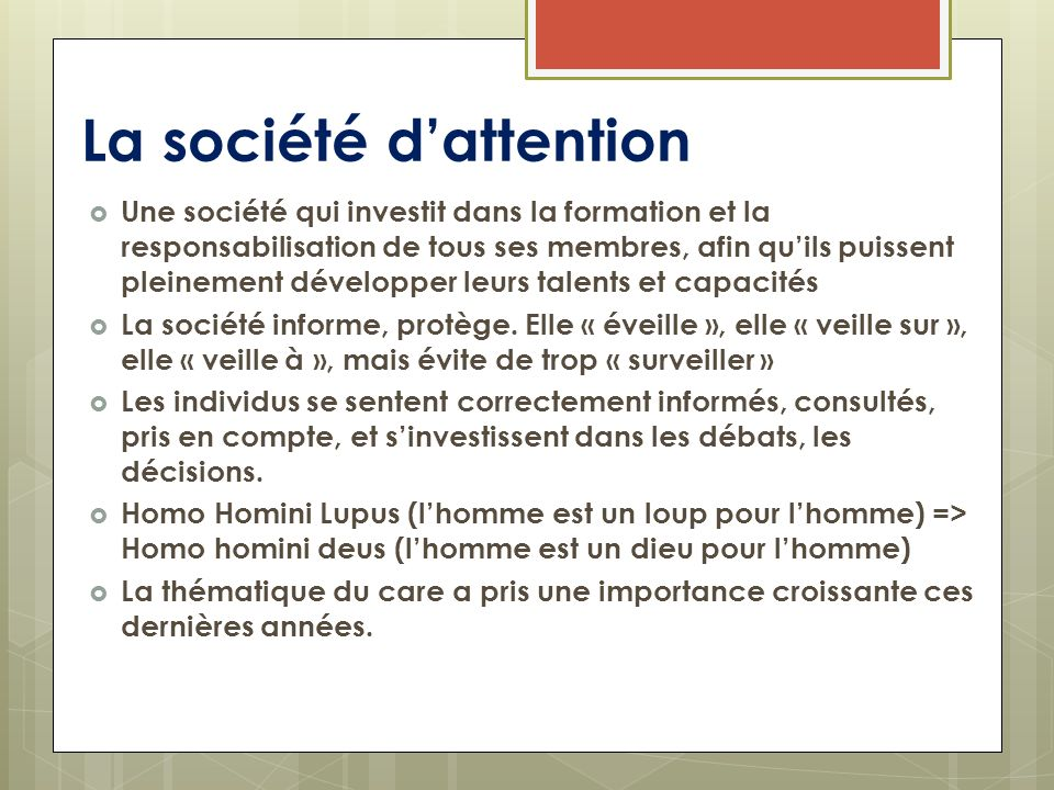 La société d'attention