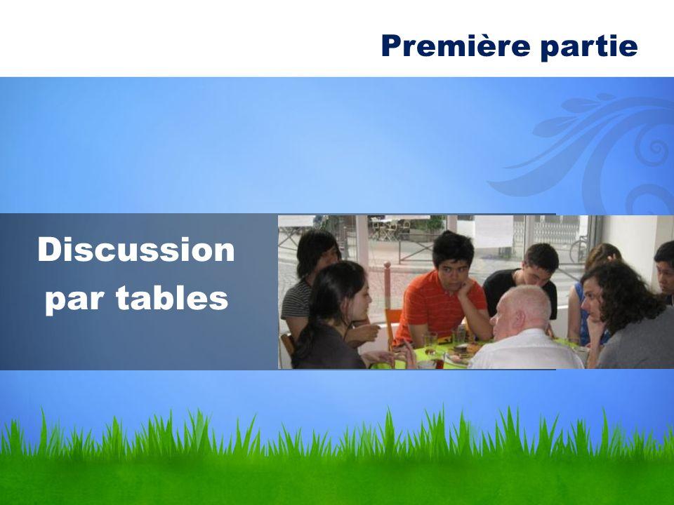 Première partie Discussion par tables