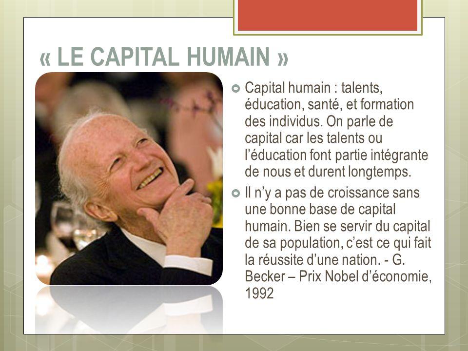 « LE CAPITAL HUMAIN »