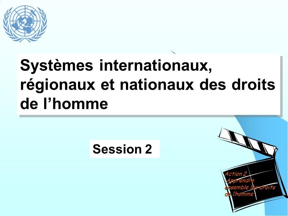 Systèmes internationaux, régionaux et nationaux des droits de l'homme