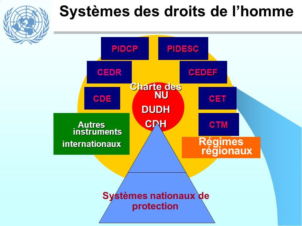 Systèmes des droits de l'homme