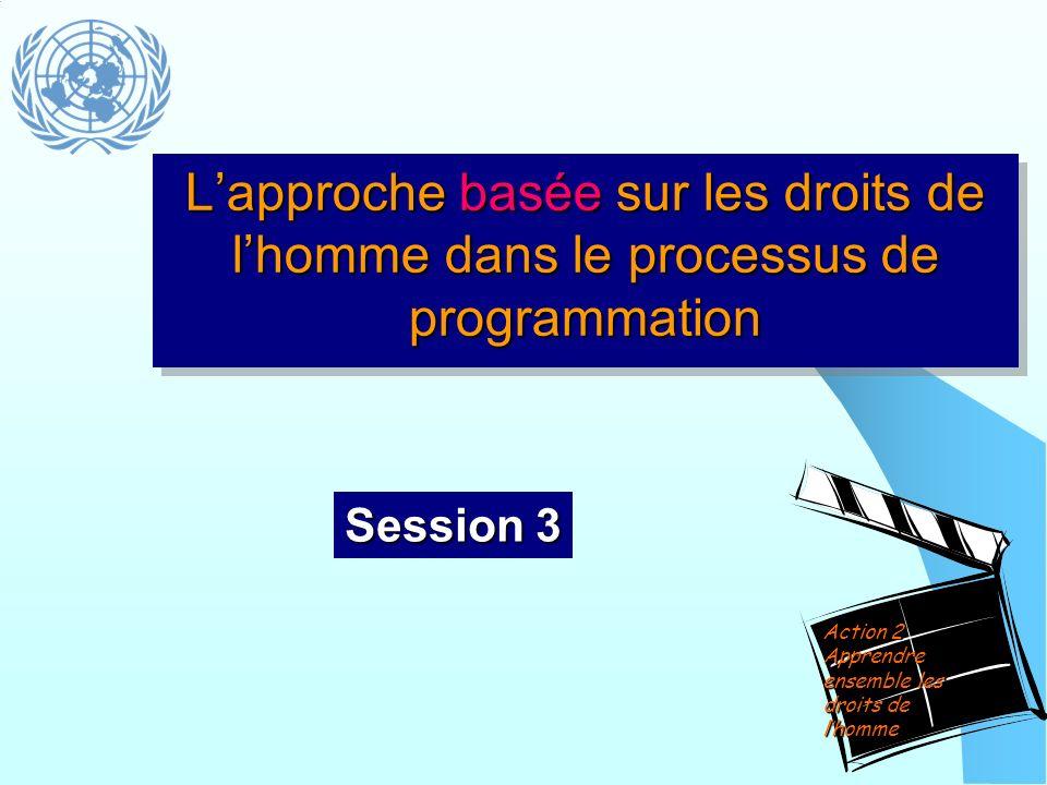 L'approche basée sur les droits de l'homme dans le processus de programmation