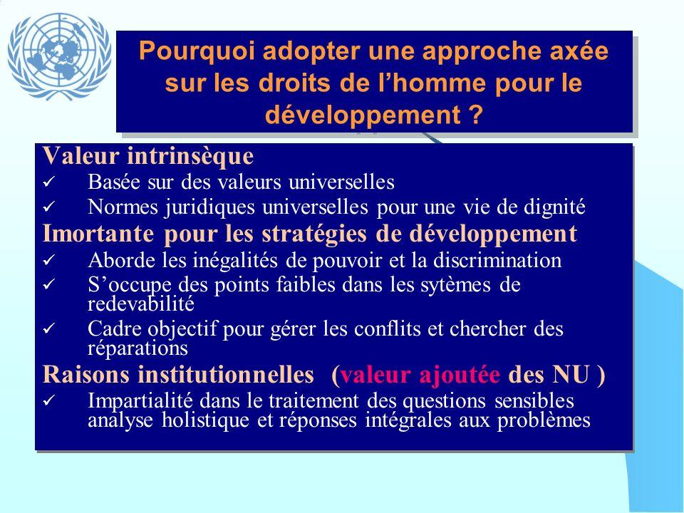 Imortante pour les stratégies de développement