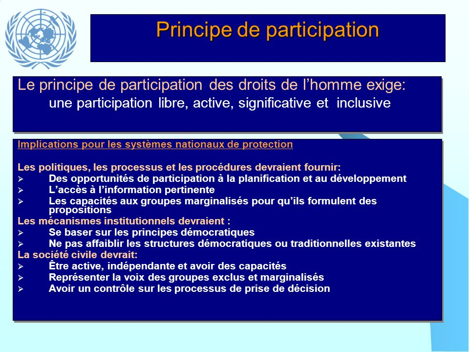 Principe de participation