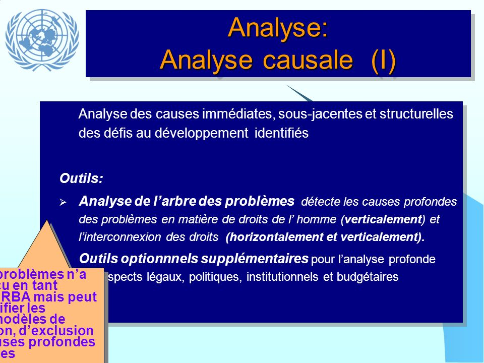 Analyse: Analyse causale (I)