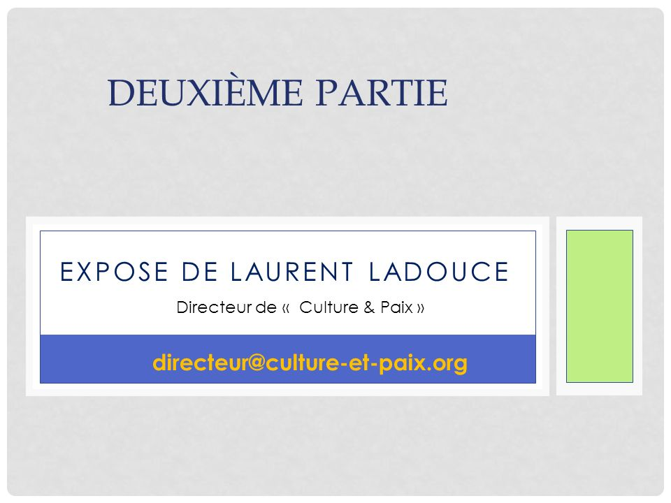 EXPOSE dE laurent ladouce