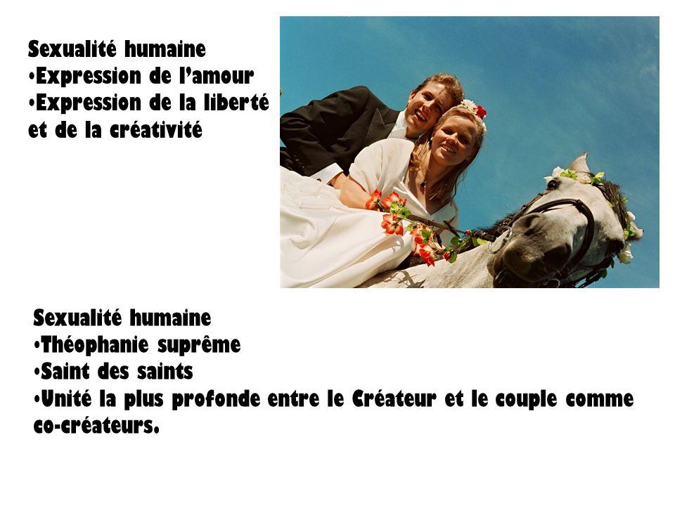 Sexualité humaineExpression de l'amour. Expression de la liberté et de la créativité. Sexualité humaine.