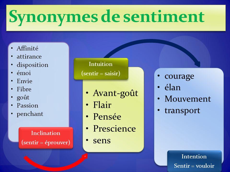 Synonymes de sentiment
