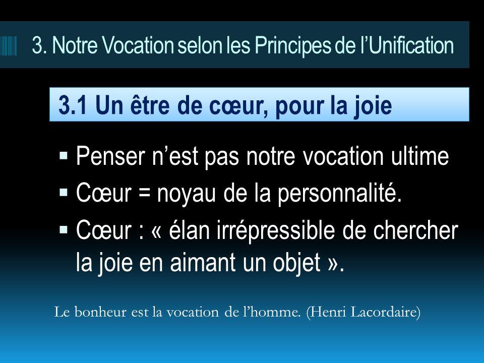 3. Notre Vocation selon les Principes de l'Unification