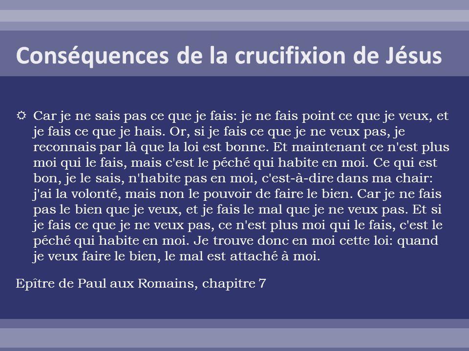 Conséquences de la crucifixion de Jésus