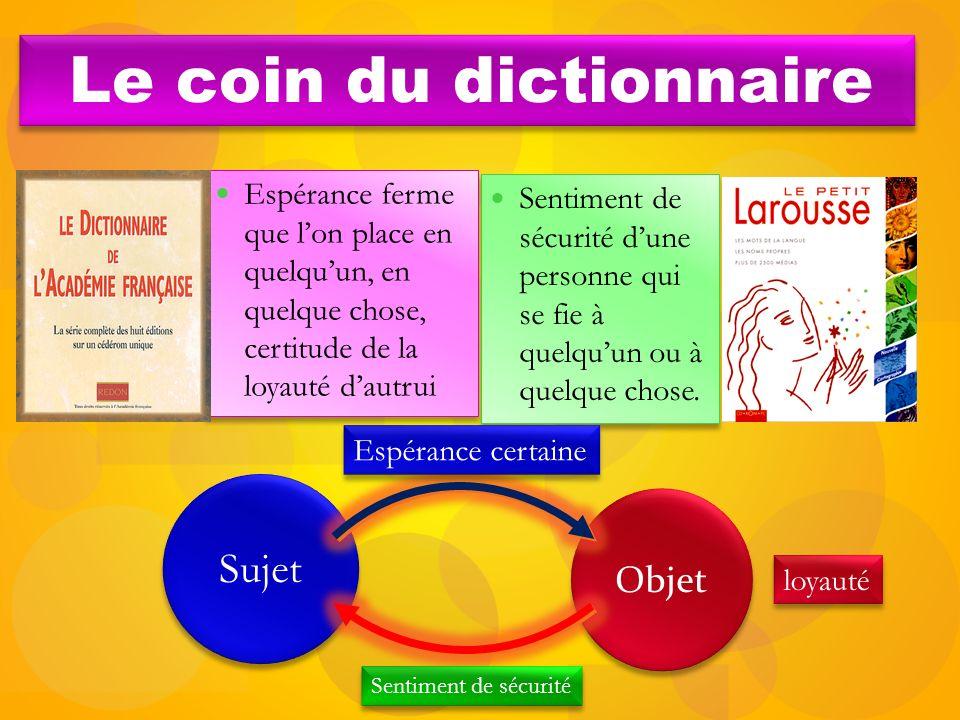 Le coin du dictionnaire