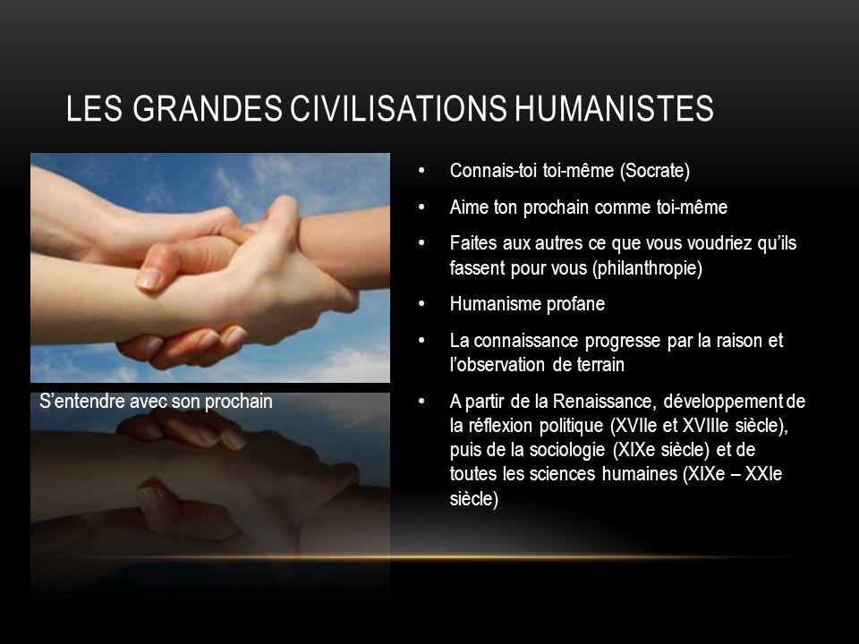 Les grandes civilisations humanistes