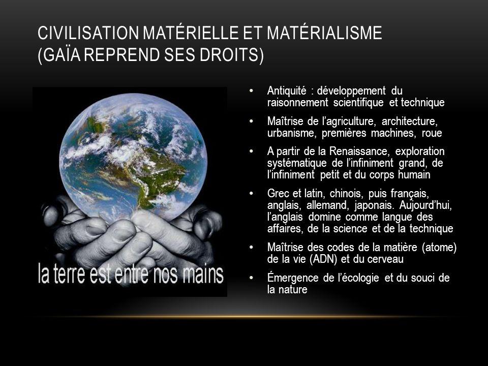 Civilisation matérielle et matérialisme (Gaïa reprend ses droits)