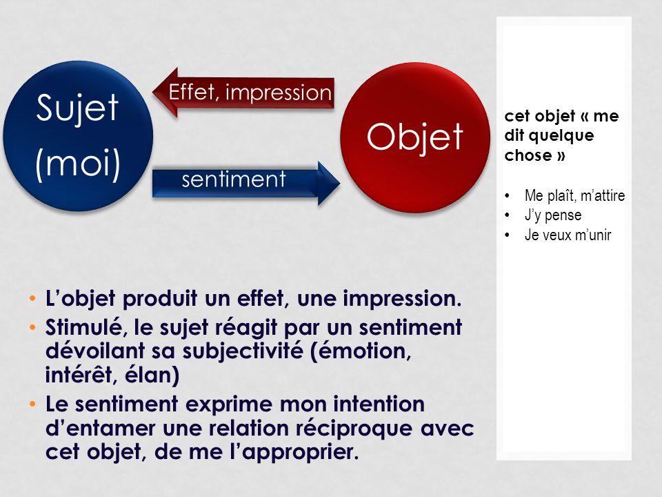 L'objet produit un effet, une impression.