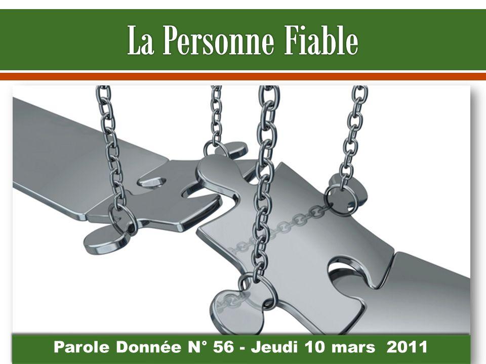 Parole Donnée N° 56 - Jeudi 10 mars 2011
