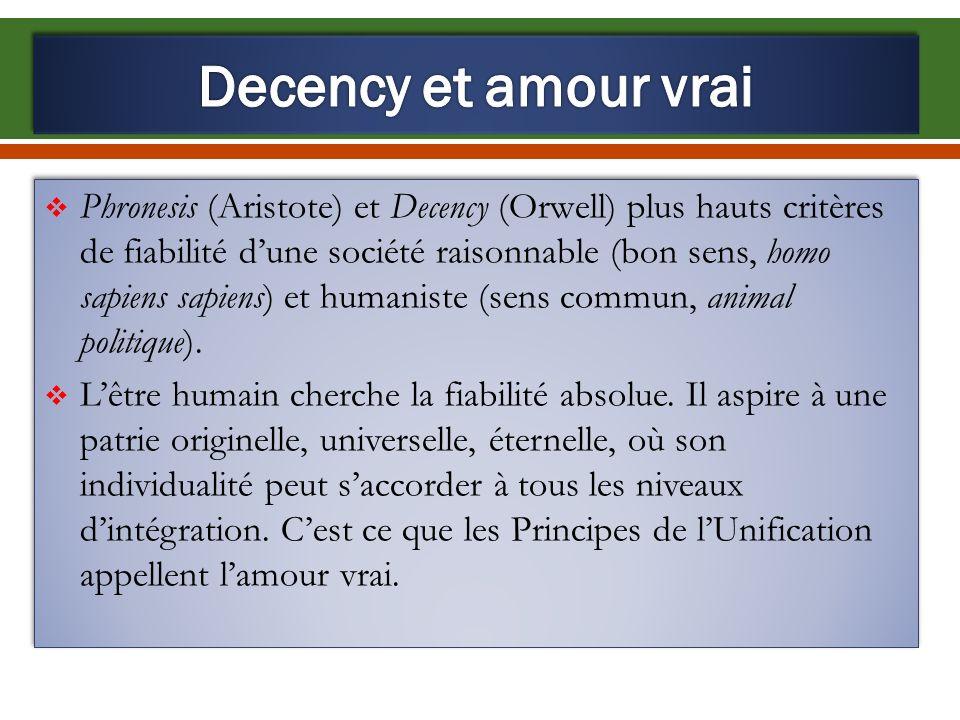 Decency et amour vrai