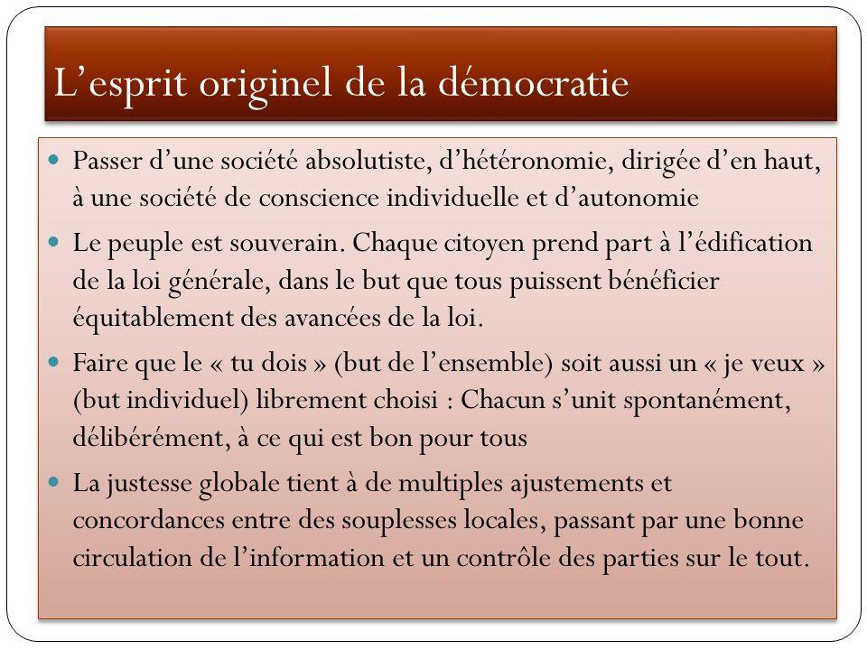 L'esprit originel de la démocratie