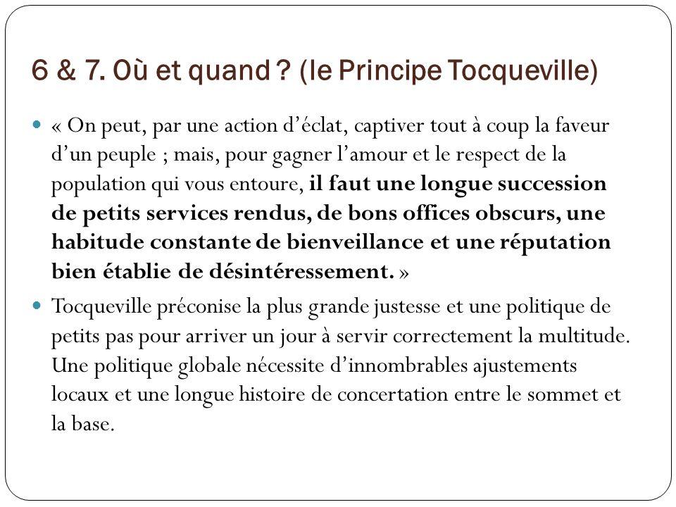 6 & 7. Où et quand (le Principe Tocqueville)