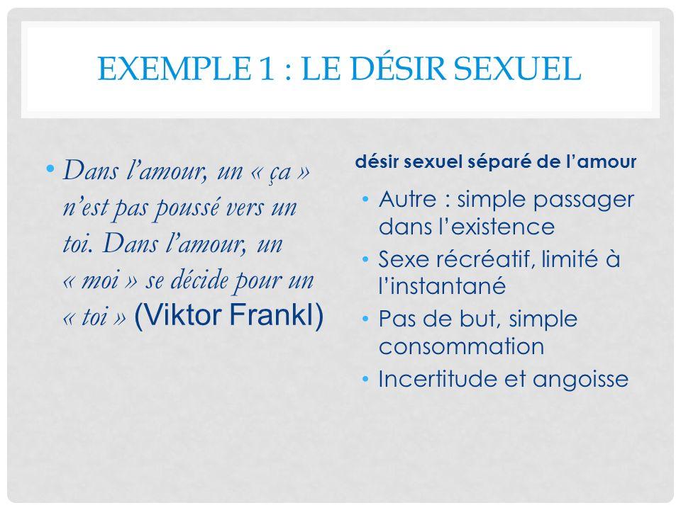 Exemple 1 : le désir sexuel