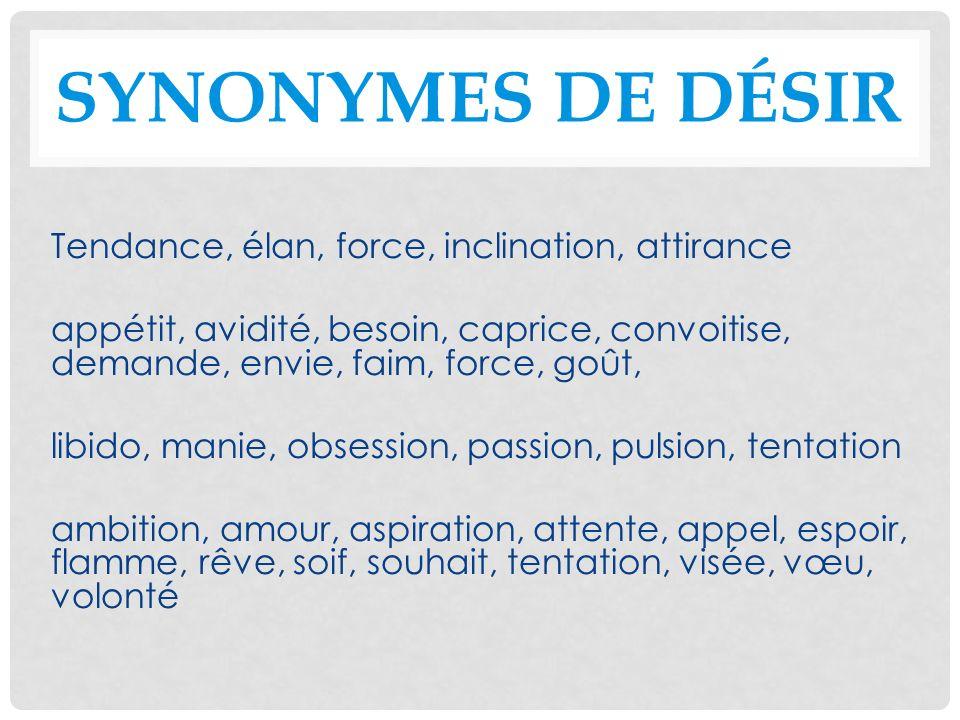 Synonymes de désir