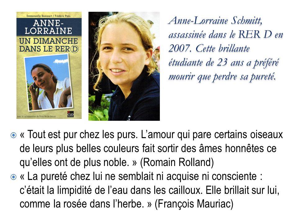 Anne-Lorraine Schmitt, assassinée dans le RER D en 2007