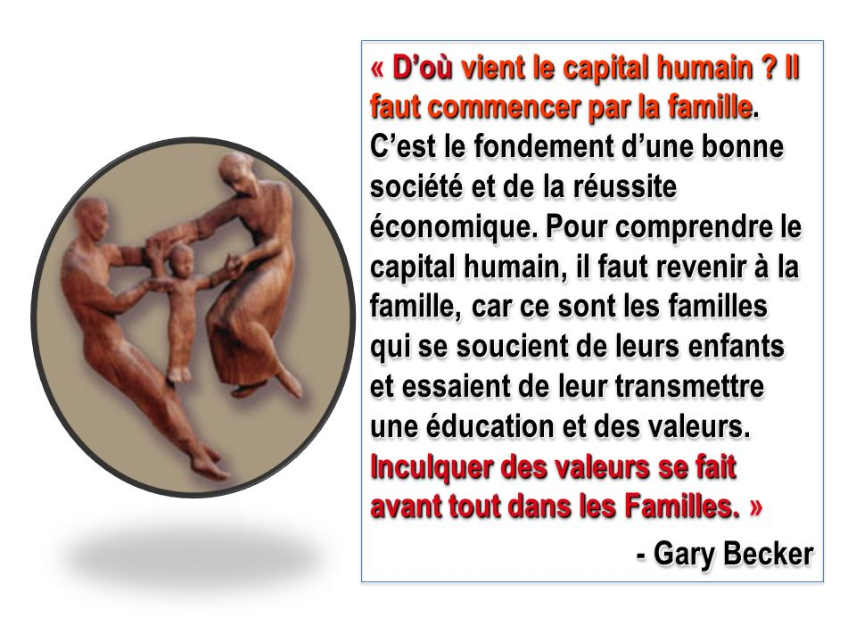 « D'où vient le capital humain. Il faut commencer par la famille