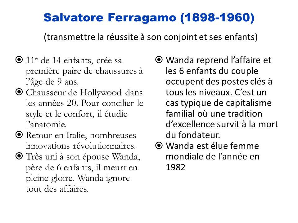 Salvatore Ferragamo (1898-1960) (transmettre la réussite à son conjoint et ses enfants)