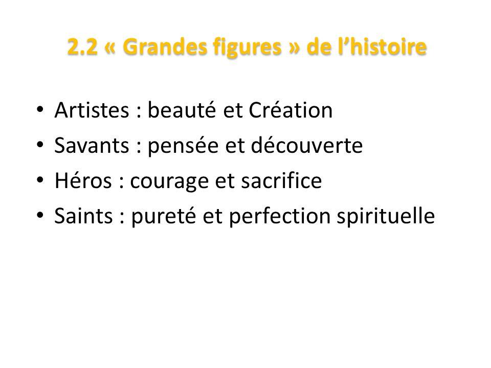 2.2 « Grandes figures » de l'histoire