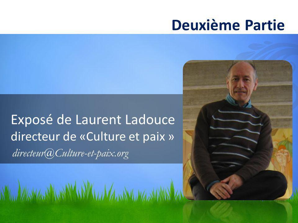 Exposé de Laurent Ladouce directeur de «Culture et paix »