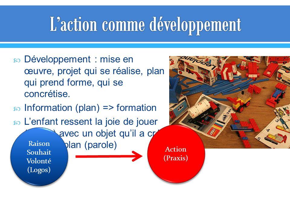 L'action comme développement