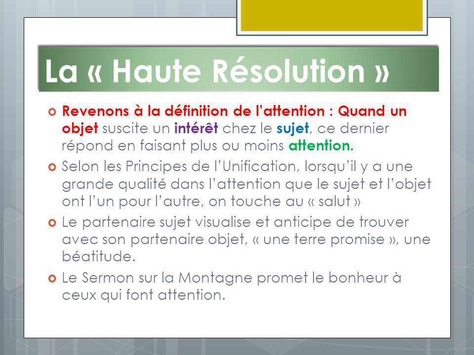 La « Haute Résolution »