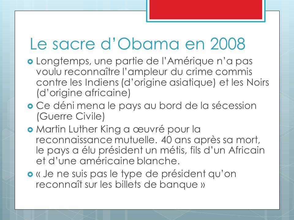 Le sacre d'Obama en 2008