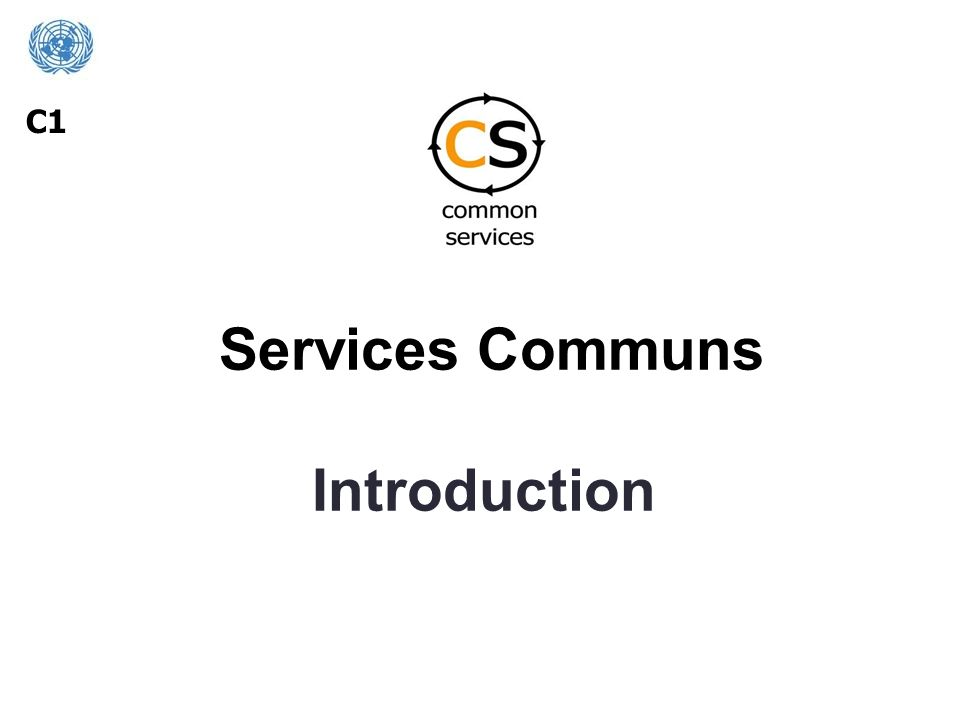 Services Communs Introduction