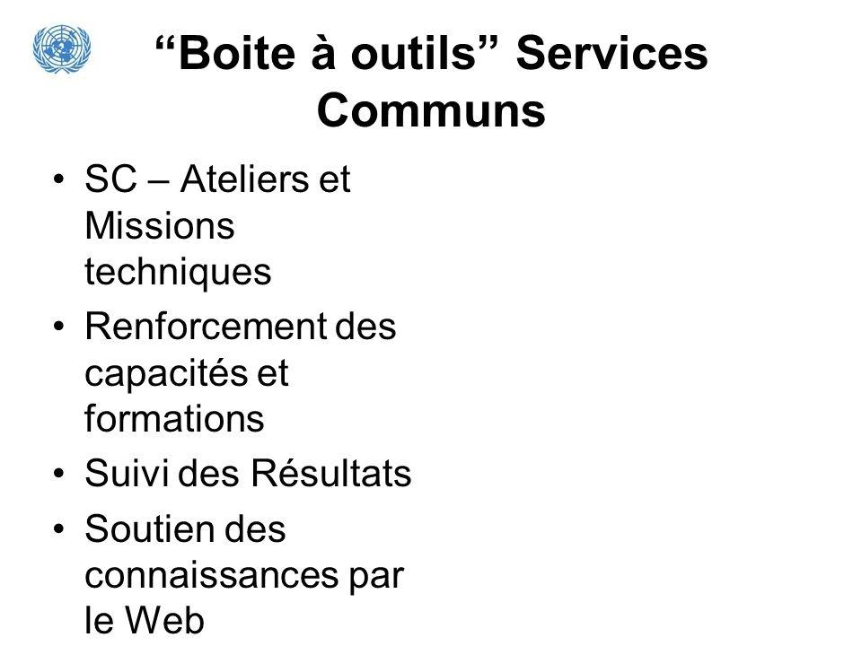 Boite à outils Services Communs