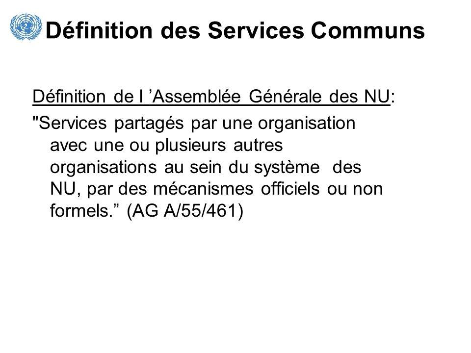 Définition des Services Communs