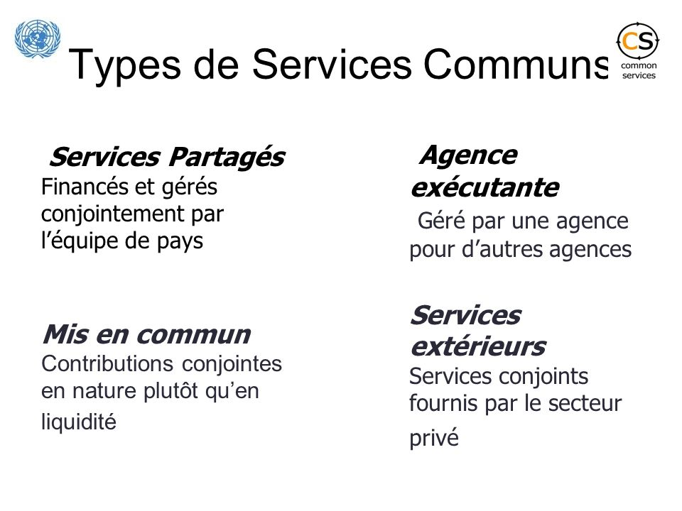 Types de Services Communs