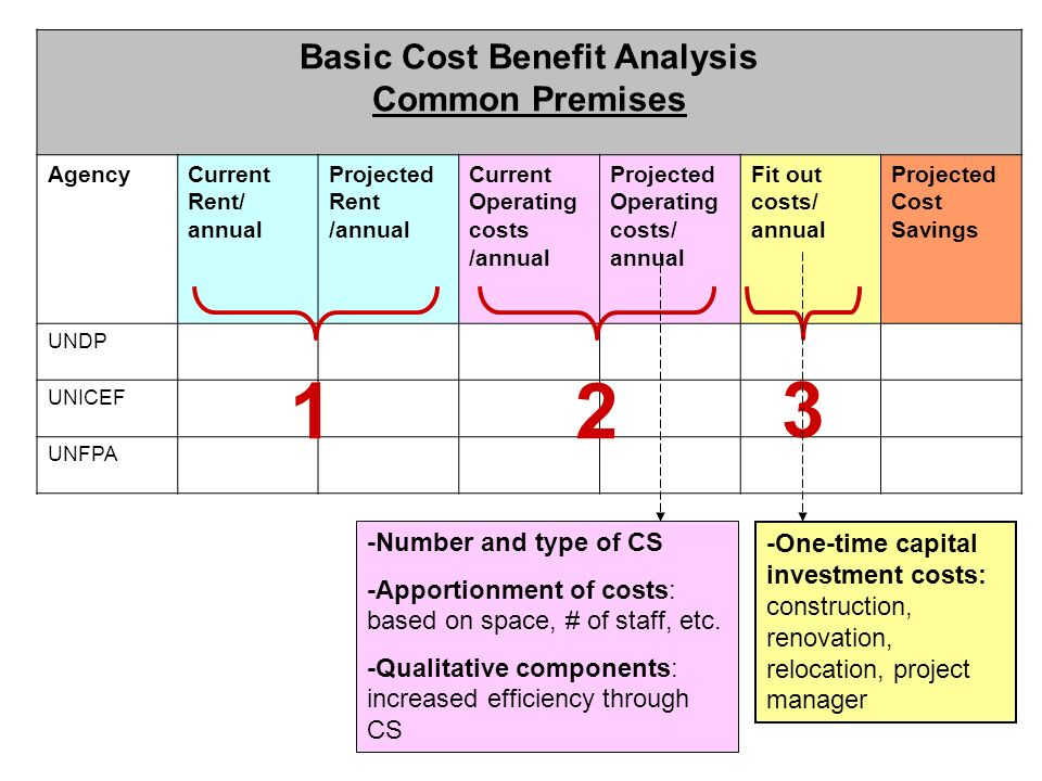Basic Cost Benefit Analysis