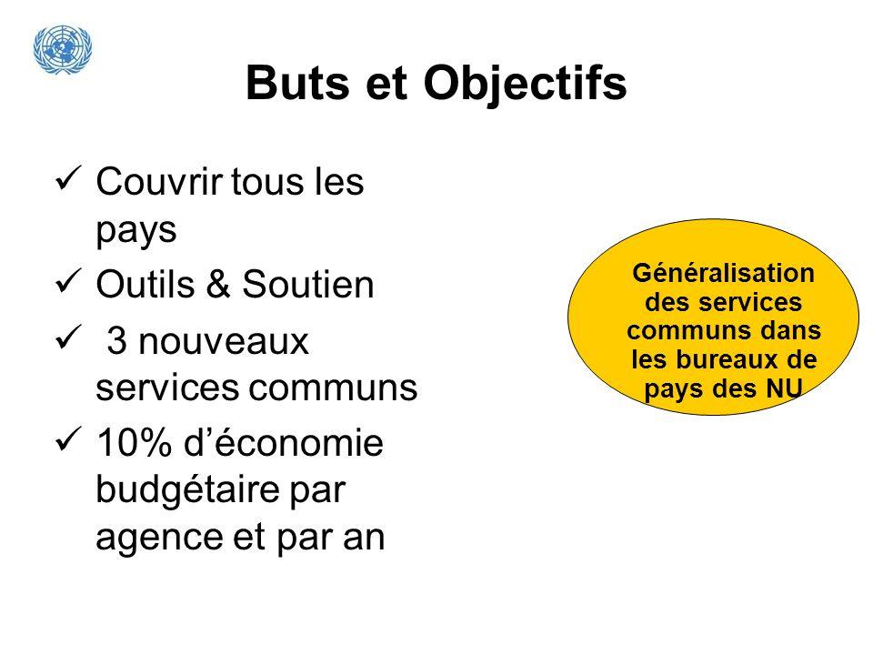Généralisation des services communs dans les bureaux de pays des NU