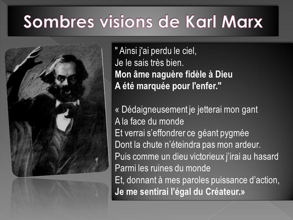 Sombres visions de Karl Marx