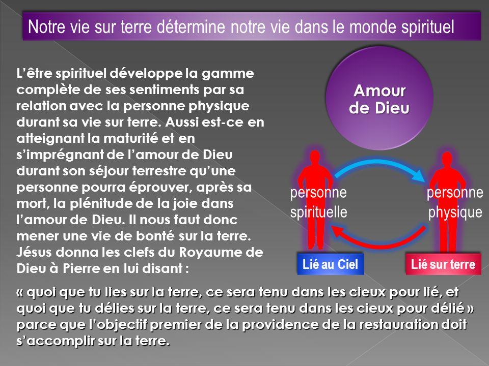 Notre vie sur terre détermine notre vie dans le monde spirituel