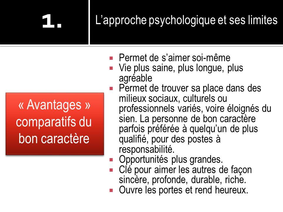 « Avantages » comparatifs du bon caractère