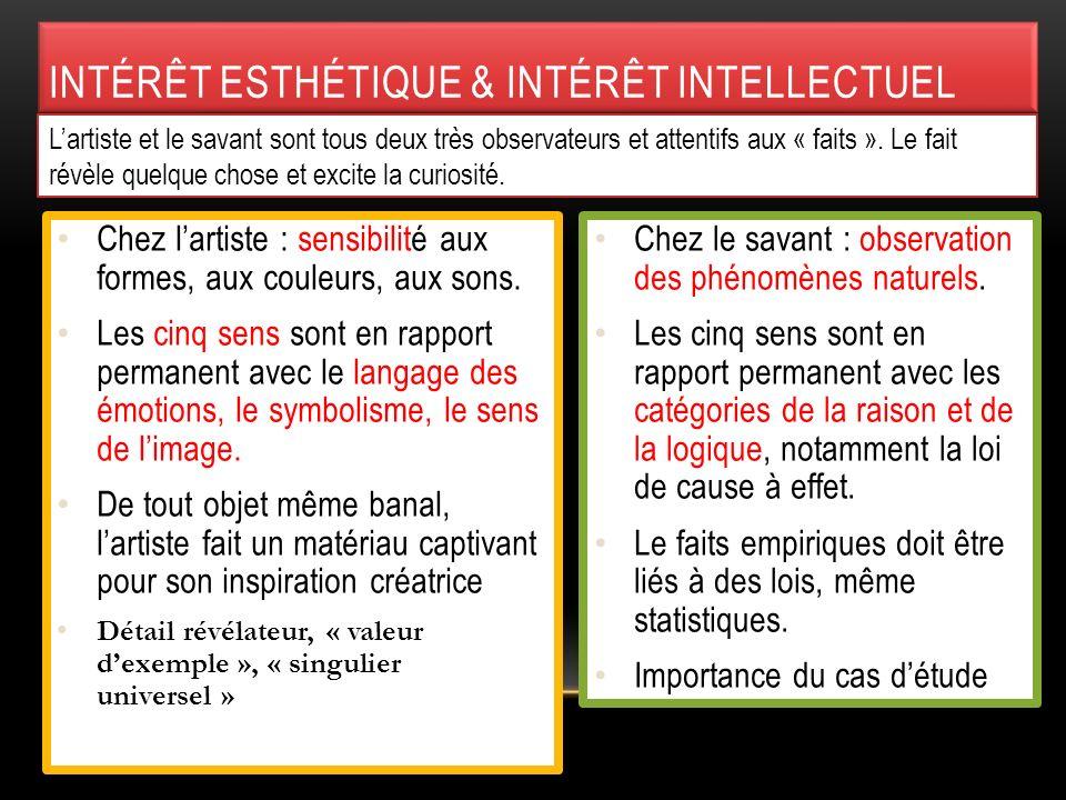 Intérêt esthétique & intérêt intellectuel